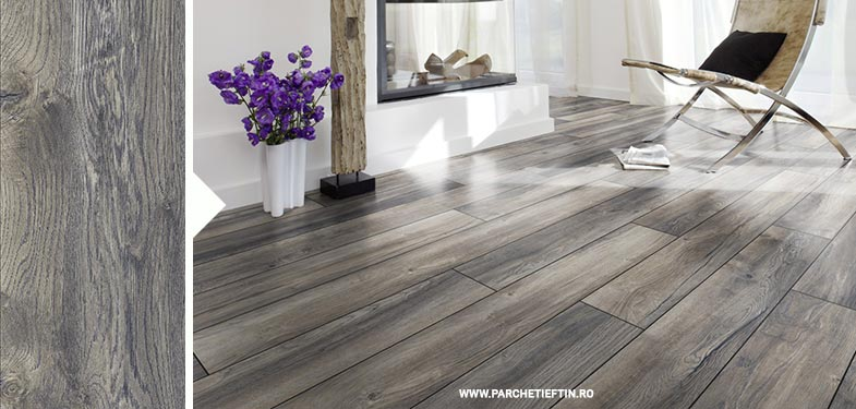 Parchet laminat Kronotex Stejar Harbour Gri – 10 mm